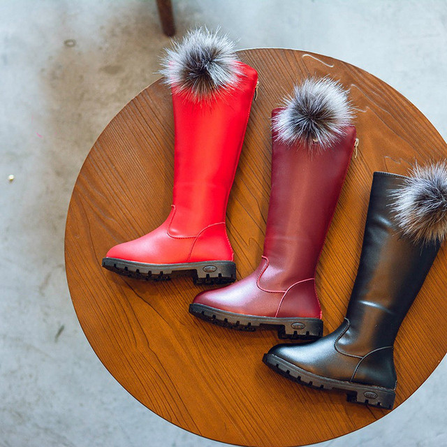 bc4eb1c13 Обувь для девочек высокие зимние сапоги childrem модные Обувь кожаная для  девочек женские Высокие сапоги подростков
