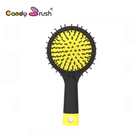 MY GIRL 1pc Hair Massage Comb Styling Tools With Small Mirror Rainbow Hairbrush Free Shipping