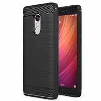 Case For Xiaomi Redmi Note 4 5 5 Brushed Armor Shockproof Soft TPU Case For Xiaomi