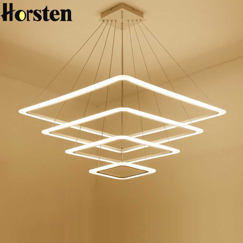 Horsten Creative Personality LED Chandelier Lights 4 Layers Suspension Hanging Lamp For Living Room Dining Room Restaurant Bar led fashion simple living room chandelier dining chandelier bar chandelier lamp acrylic creative personality