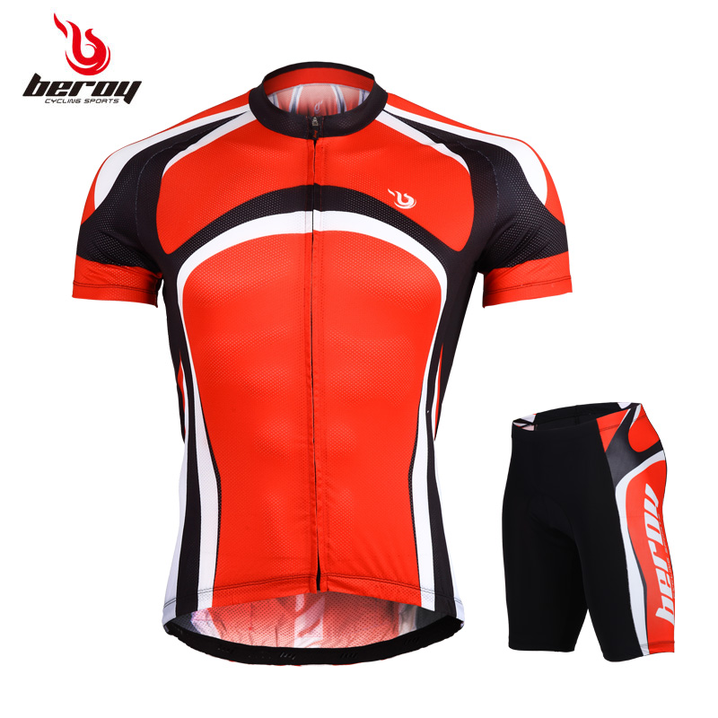 2015 team Mountain Bike Bicycle Sets Mens Cycling Short Sleeves Jersey MTB Shirts and bike shorts Suits Uniforms