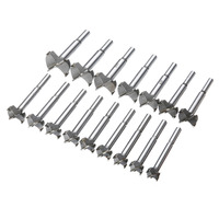 New 16Pcs 15 35mm Forstner Woodworking Hole Saw Drill Bits Hole Cutter Set Tool Rotary Tool