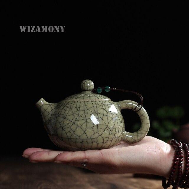 Tea set Crackle Glaze Ge Kiln Longquan Celadon Zisha Ceramics Arts Tay Thi Chinese Teapot Porcelain yixing Clay Antique Teapot