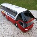 1/32 escala diecast car model Nueva York Autobús Rojo de Dos Pisos de Turismo 1/32 Diecast Modelo Coleccionables W luz y sonido