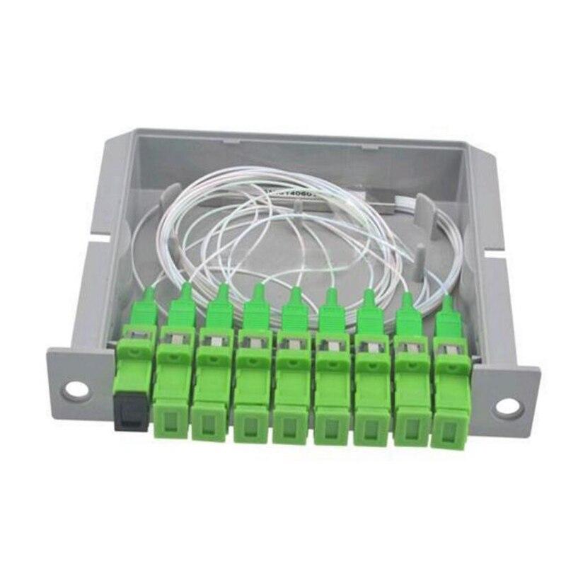 10 pièces 1 à 8 SC APC insertion PLC séparateur de fibres 1X8 Mode unique