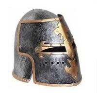 Plastic COSPLAY Masquerade Roman Helmet Hat Spartan Helmet Roman Warrior Golden Helmet For Adult