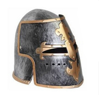 Plastic COSPLAY Masquerade Roman Helmet Hat Spartan Helmet Roman Warrior Golden Helmet For Adult