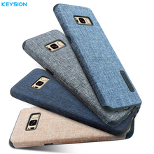 KEYSION Linen Case for Samsung Galaxy S8 S8Plus