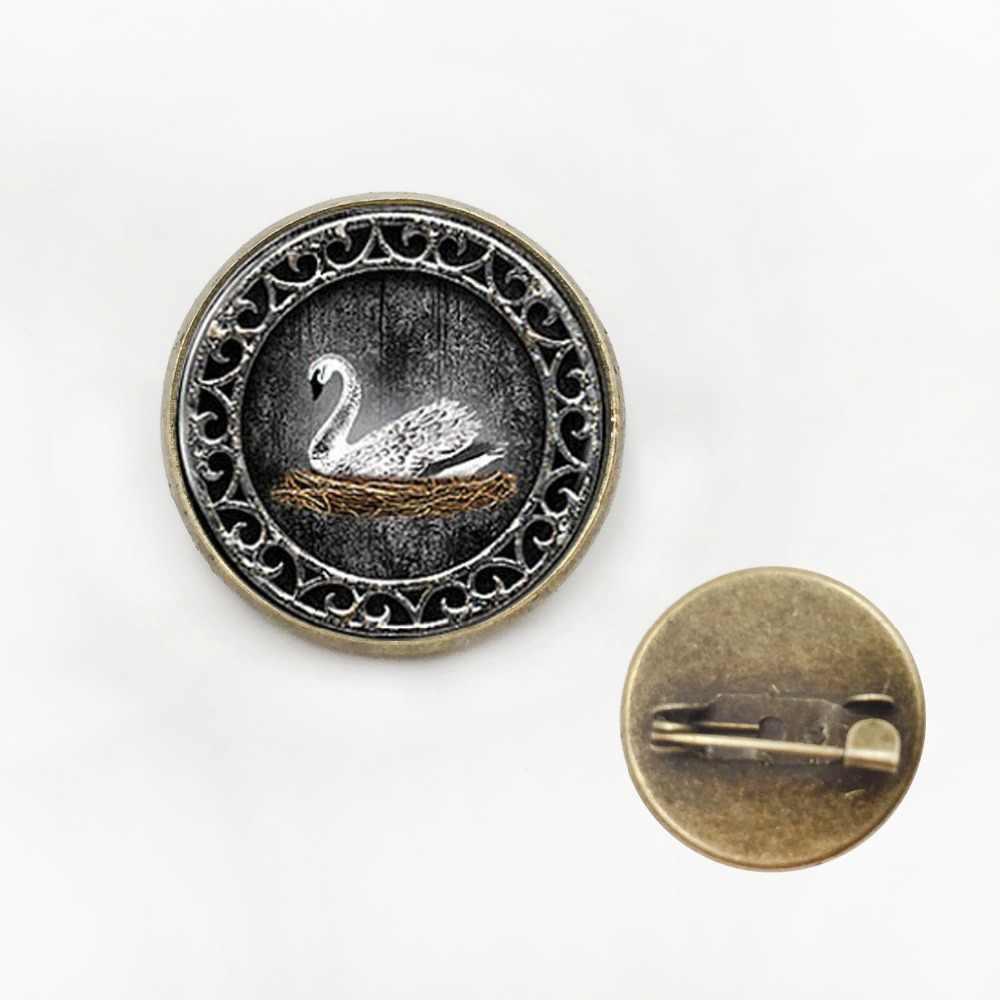 Белый лебедь Эмма Лебедь один раз на время кристалл ожерелье ювелирные изделия вдохновили кабошон