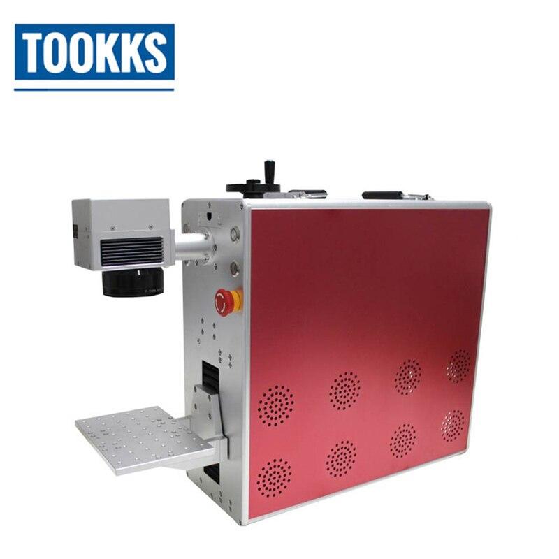 Desktop Fiber Laser Marking Machine For Metal Engraving PCB/ABS Shell/Chips/Plastic Marking Phone Back Cover Glass Separating