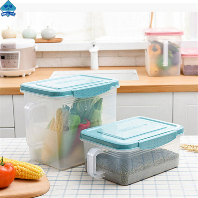 Wishome Kitchen Food Container Storage Box Food Refrigerator Fruit Vegetable Storage Organizer With Handle ZH-  sc 1 st  AliExpress.com & Wishome Kitchen Food Container Storage Box Food Refrigerator Fruit ...