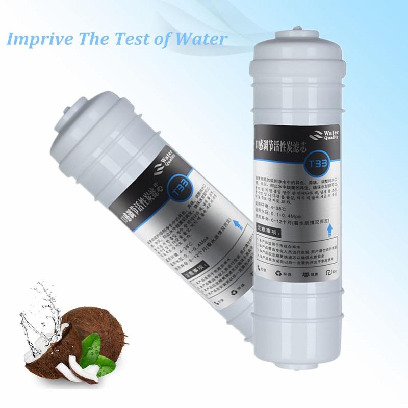 Fat Quick Connect T33 Water Filter Purifier Activated Carbon Post Element Improve taste 33 element 2014 331406