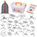 Головоломка из металлического провода IQ  30 шт./компл.  волшебная головоломка  головоломка для взрослых и детей