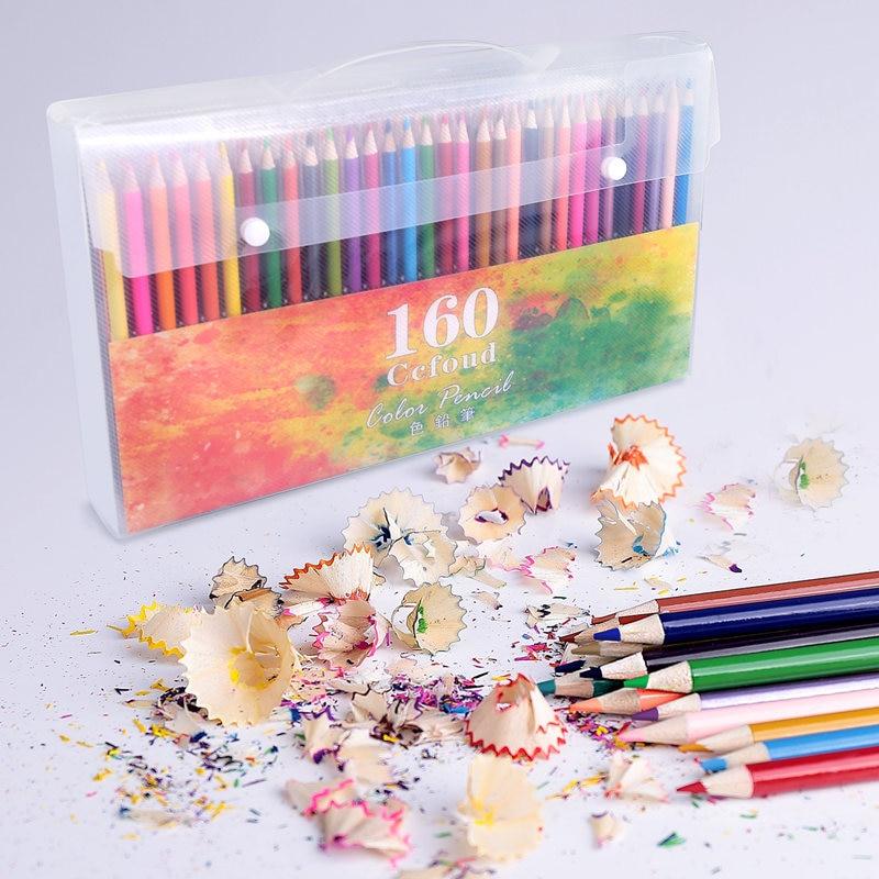 48/160 Colors Wood Colored Pencils Lapis De Cor Artist Painting Oil Color Pencil For School Supplies Sketching Drawing Pencils