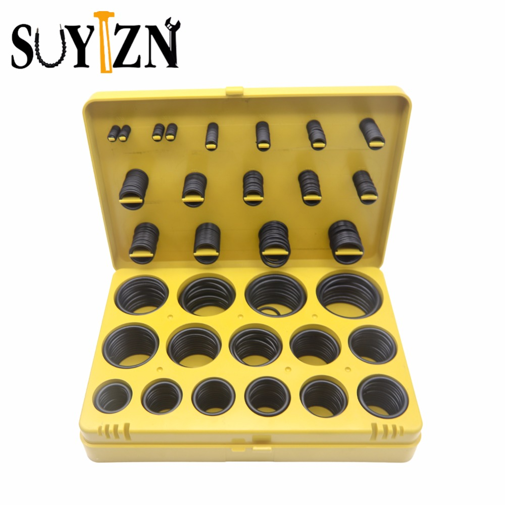 404pcs O Ring Seal Kit Garage Tools Joint Haute Temperature Transmission Kit  Seal Assortment O-Ring Seals Set Nitrile Rubber  high quality 270 pcs car styling rubber o ring seals watertightness assortment different size with plactic box kit