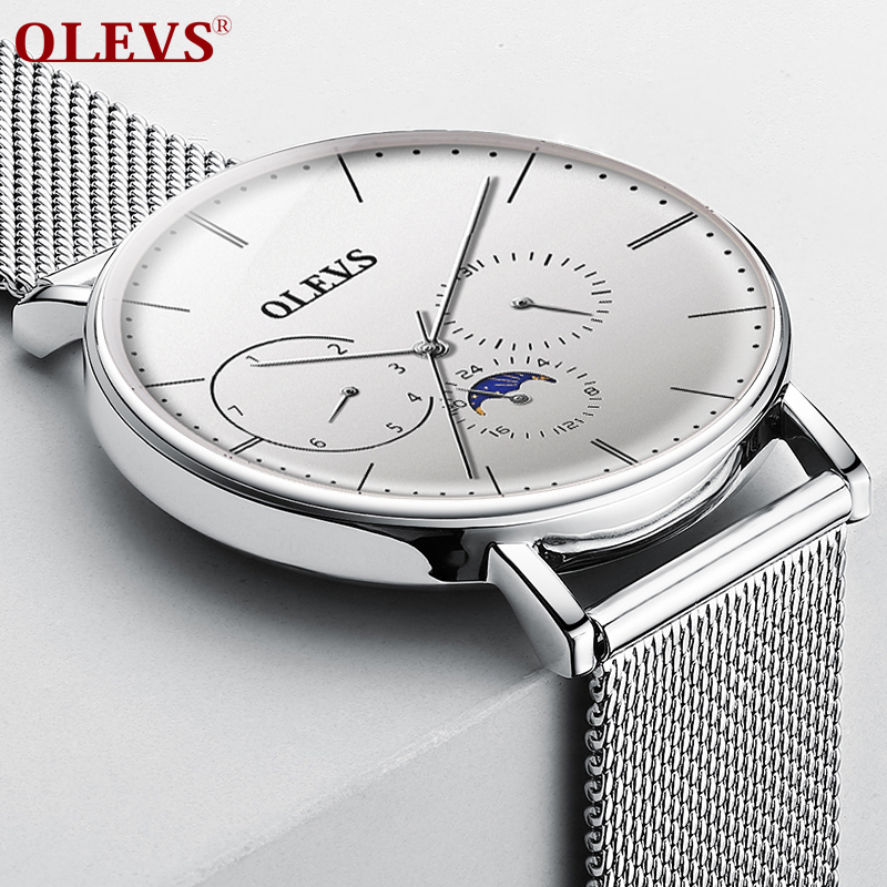 Mens Watches OLEVS Top Brand Luxury Waterproof Wrist Watches Ultra Thin Date Simple Casual Quartz Watch For Men Sports Clock