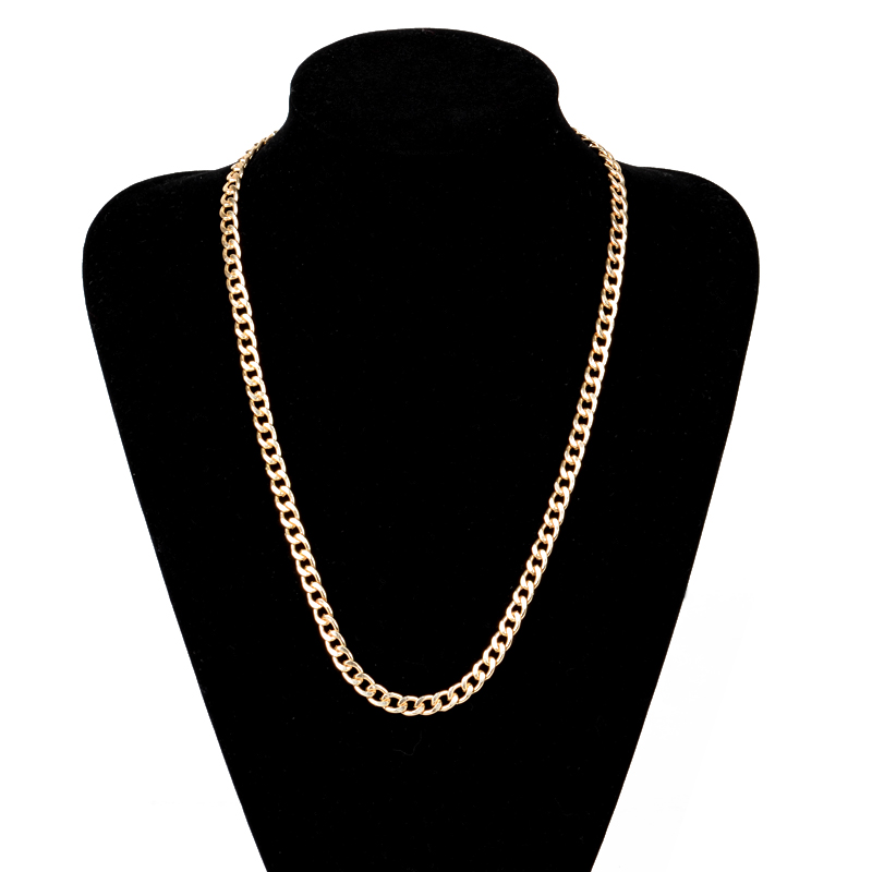 56523ca6bed Vintage Long Gold Color Chain Necklace Shellhard Hip Hop Necklaces For Men  Party Jewelry Colar Collier