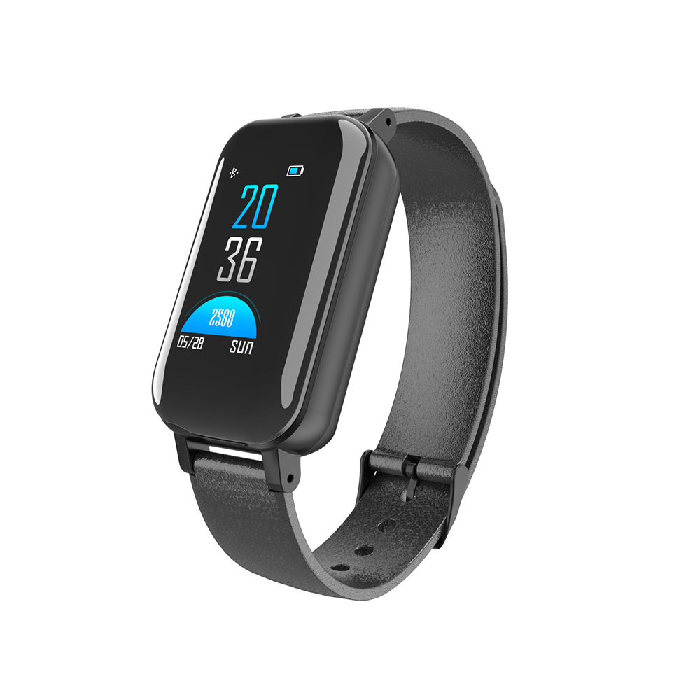 <font><b>T89</b></font> <font><b>TWS</b></font> Smart Binaural Bluetooth Headphone Fitness Bracelet Heart Rate Monitor Smart Wristband Sport Smart Watch image