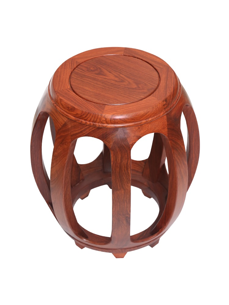 Mahogany drum stool antique Chinese solid wood round stool rosewood drums rosewood sitting pier living room coffee table stool