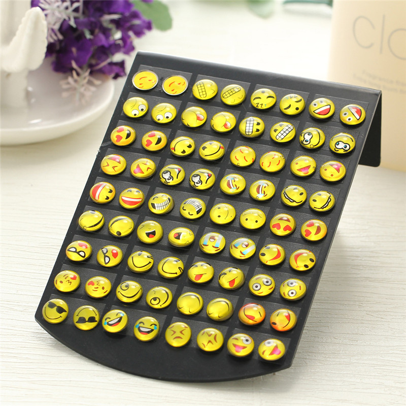 e-shine Emoji Smiley Earrings for women 36 different expression earrings Exquisite trendy style fashion jewelry