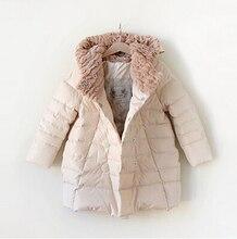 2016 детская одежда девушки куртку Детей пуховик 90% утка вниз теплое пальто девушки детей зимние куртки для девочек