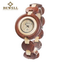 BEWELL Luxury Brand Creative Watches Wood Watch Women Bracelet Watch Unique Ladies Quartz Wrist Watches Famous Brand Analog 010