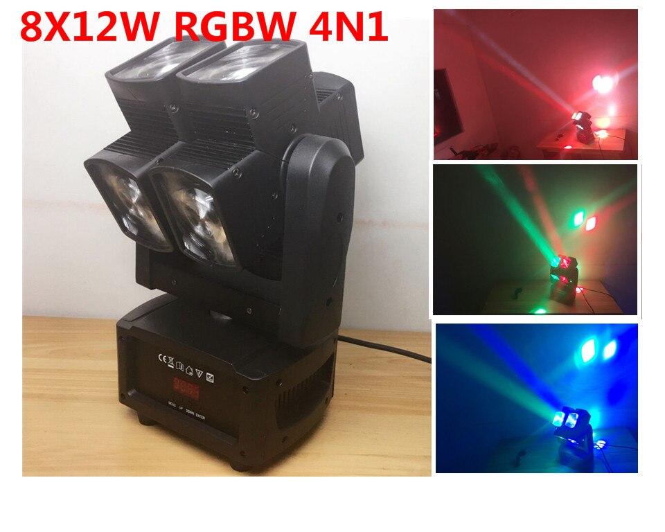 LED 8x12 W RGBW 4in1 Moviendo la luz principal para la discoteca del DJ de la etapa del disco de la boda de la barra del partid