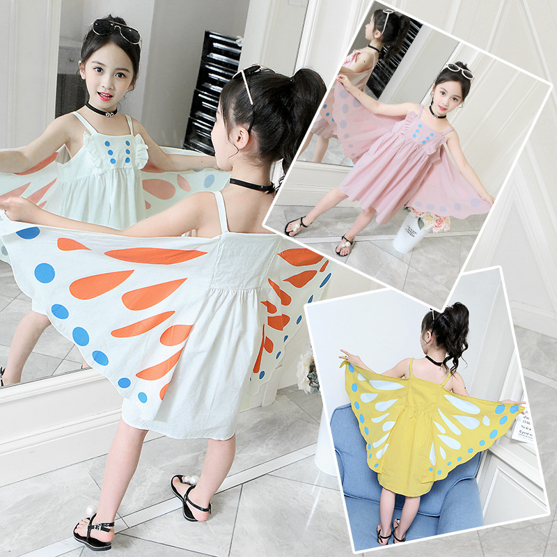 Unique Design <font><b>Kids</b></font> Girls Cute Butterfly <font><b>Cocktail</b></font> <font><b>Dress</b></font> Princess Butterfly Brand Clothing <font><b>Dress</b></font> Korean Baby Butterfly Clothes image