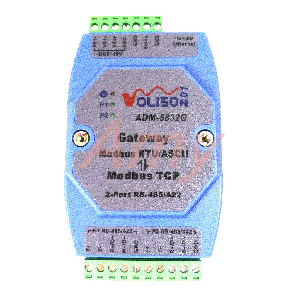 ADM 5832G Professional MODBUS Gateway Industrial Level 2 port rs485 422 Modbus RTU to Modbus TCP