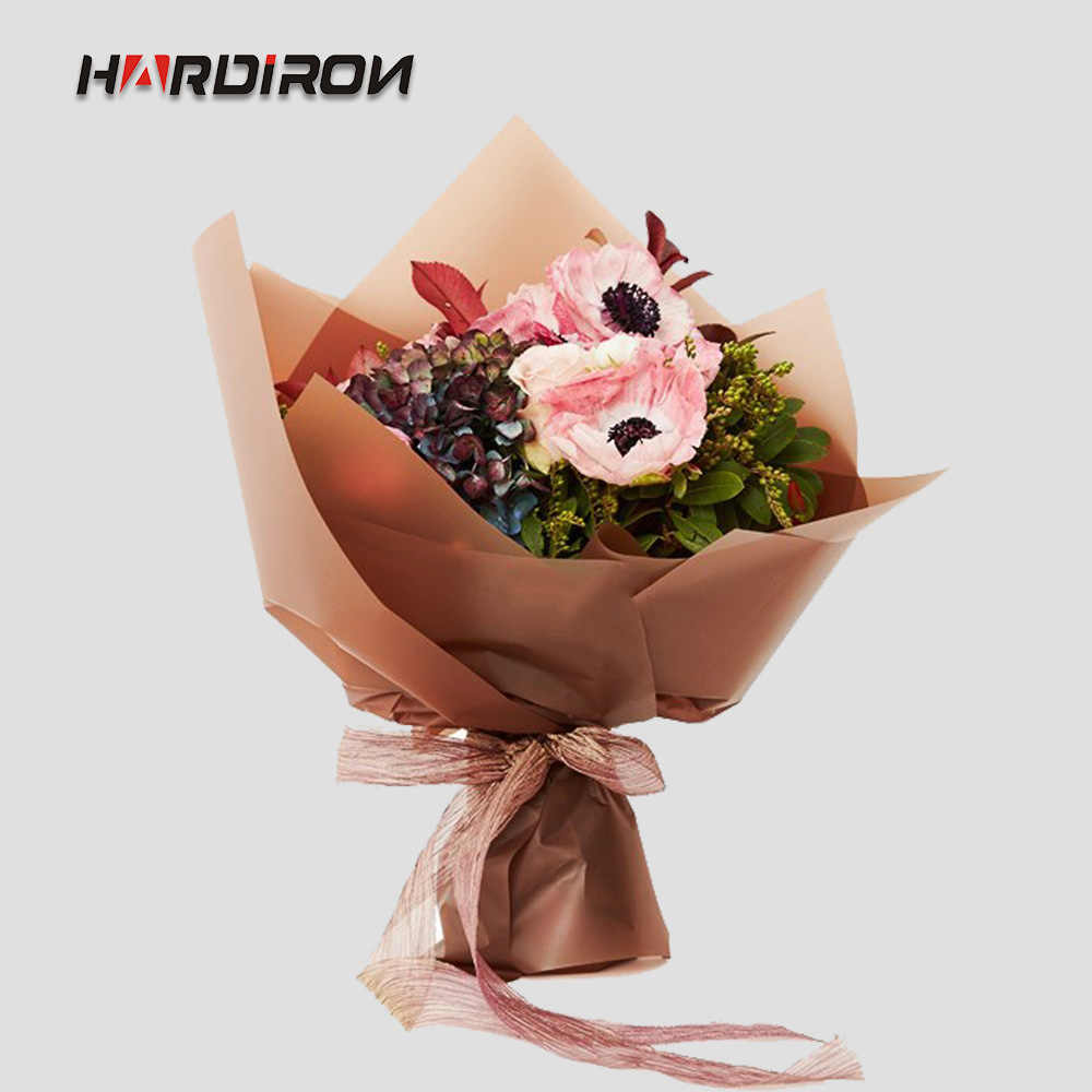 HARDIRON Flower Matte Waterproof Wrapping Paper Frosted Plastic Bouquet Packaging Paper Gift Decoration Wrap Crafts Paper