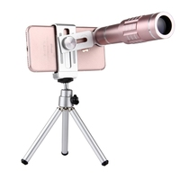 Mobile Phone Telescope Lens Universal 18X Magnification Zoom Lens Mobile Phone Telephoto Lenses Tripod Mount Mobile Phone Clip