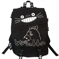 Anime My Neighbor TOTORO Cartoon Backpack Canvas Shoulders School Bag Children Schoolbags Men Women Bookbag Printing