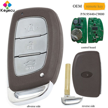 KEYECU OEM Genuine Smart Remote Car Key With 3 Button 433MHz PCF7952 Chip - FOB for Hyundai IX25 2013 2014 2015 P/N: 95440-C9000