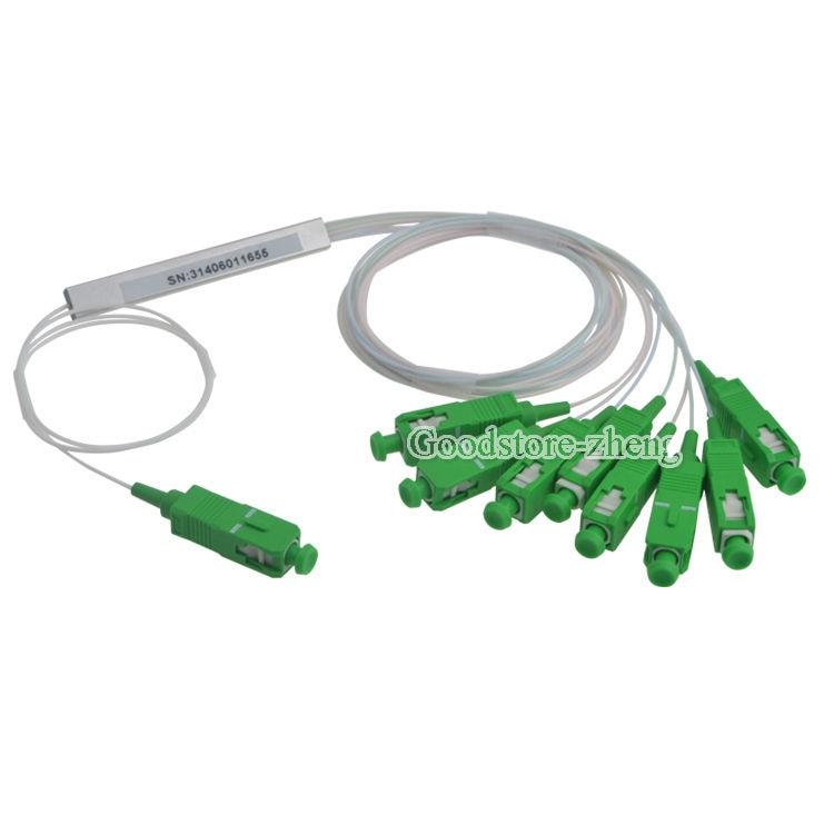 все цены на  1x8 SC/APC Fiber Optic PLC Splitter Fiber splitters Fiber pigtails  онлайн