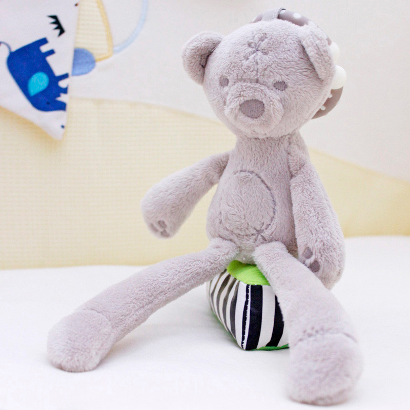 Bayi buaian kereta dorong mainan kelinci kelinci beruang lembut - Mainan untuk kanak-kanak - Foto 3