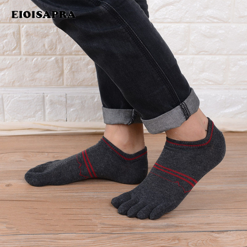 [EIOISAPRA]Five Fingers Men Casual Shallow Mouth   Socks   Smiple 5 Color   Socks   Big Size Business Sox Harajuku Creative Calcetines