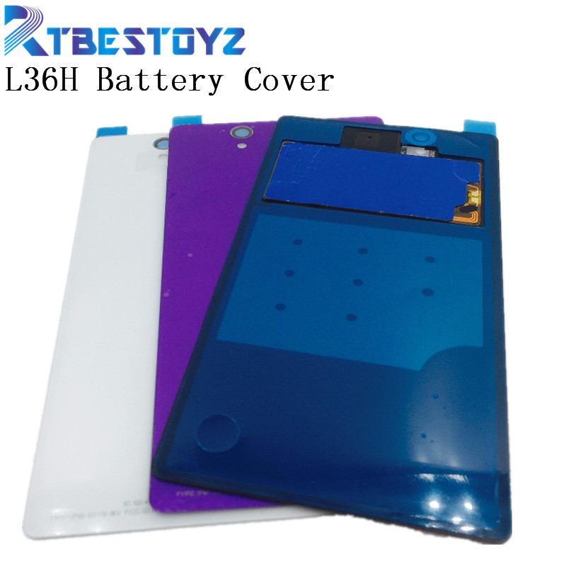 RTBESTOYZ NFC <font><b>Battery</b></font> Cover Back Lid Glass Door With Glue Sticker For <font><b>Sony</b></font> <font><b>Xperia</b></font> <font><b>Z</b></font> L36H <font><b>C6602</b></font> C6603 With NFC image
