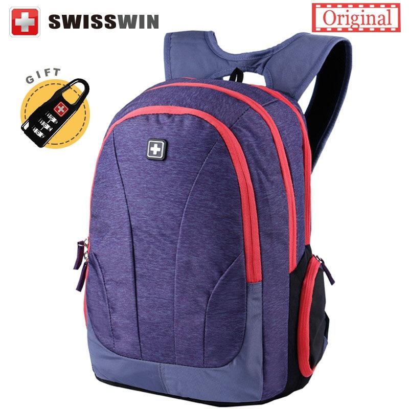 Hot Sale Swisswin Backcpack for Teenage Girls Female Youth Backpacks 15,6