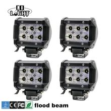 "CO LIGHT 1 Set 4"" Pod Light Bar 18W Spot Flood Beam 2400lm 6000K for 4×4 Offroad UAZ Lada Niva Jeep Ford Boat Bus Trailer Motor"