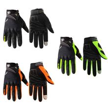 Portable Motocycle Motocross Breathable Riding Racing Locomotive Screen Touch Full Finger Gloves 3 Color M-XXLL