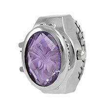 YCYS Новый Stretch элегантный Цветок Палец часы Кварцевые женские Часы кольцо часы девушки аксессуары