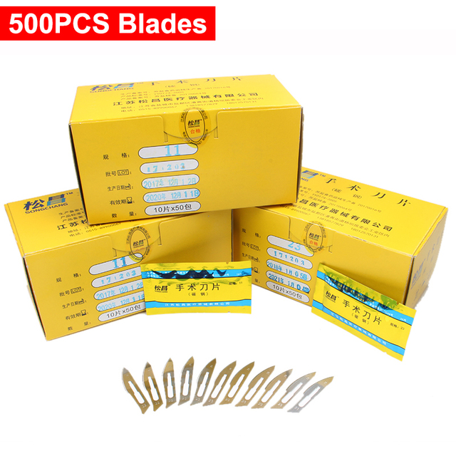 Disposable scalpel Surgical Blade DIY Cutting Tool PCB Repair Tools Used in plant/ animals blades Free Shipping