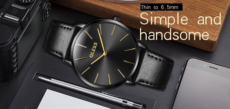 HTB1e80emyqAXuNjy1Xdq6yYcVXaZ 60% OFF OLEVS Men Ultra thin Watches - Top Brand Luxury Quartz Watch Men's [ New ]
