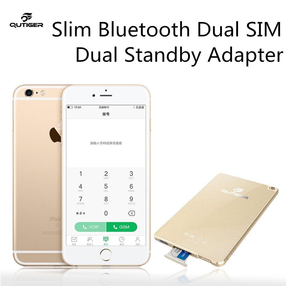 Горячая Тонкий <font><b>Bluetooth</b></font> Две сим двойной адаптер для Apple iPhone iPad touch ipod нет необходимости джейлбрейк два активных <font><b>SIM</b></font> карты адаптера