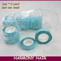 20 rolls blue color 1cm x 3 yard hair extension adhesive tape for tape hair, toupees, wigs/double sided tape
