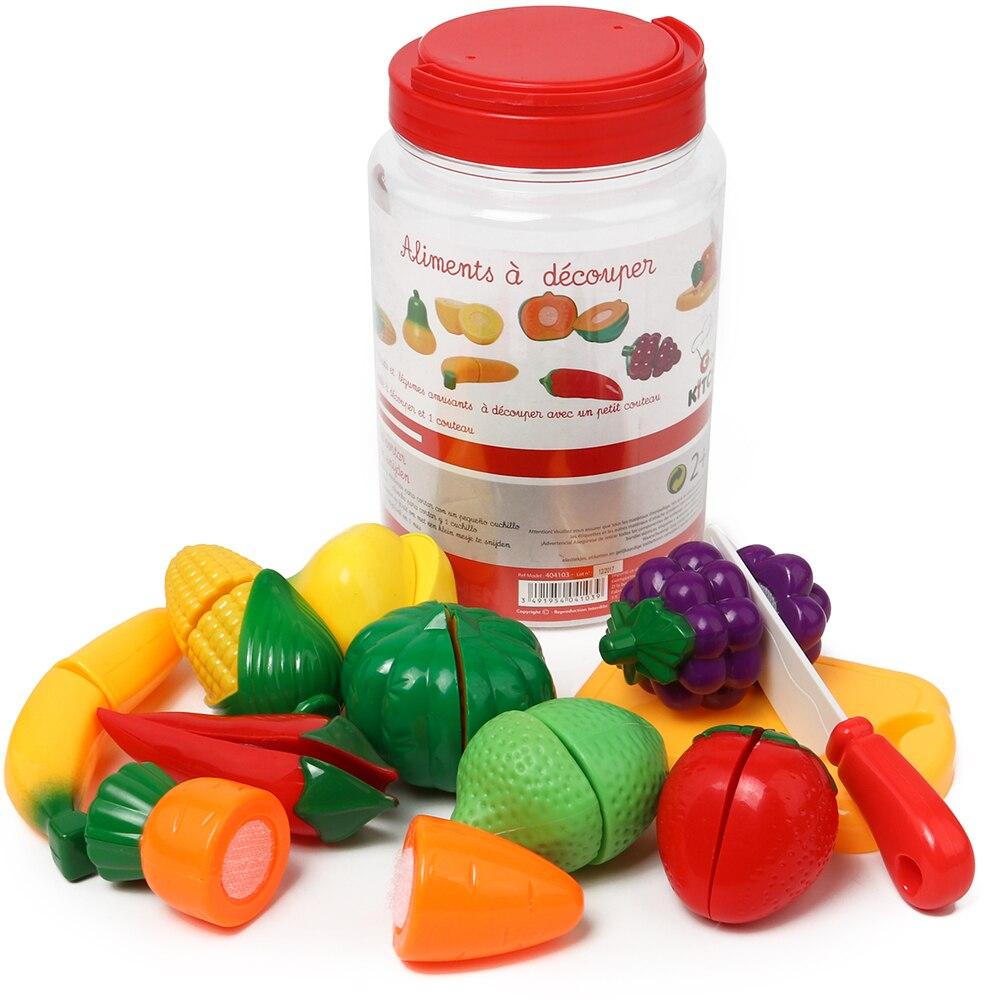 FAI DA TE Giochi di imitazione Del Bambino Cucina Giocattolo Set Da Cucina della Frutta di Taglio Da Cucina In Plastica Del Capretto Dei Bambini Giocattoli Educativi Per i bambini Delle Ragazze