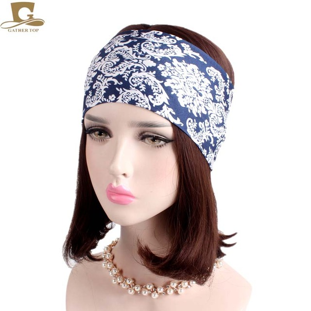 New Fashion Women Yoga Turban Headband Running Fitness Soft Wide Headbands  No Slip Hair band Girls Hair Accessories dbb27f1cf73