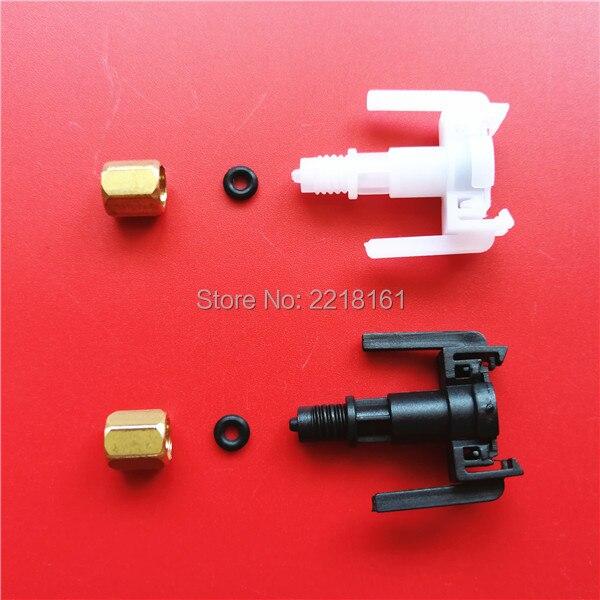 30pcs Mimaki DX5 ink damper upper connector plastic fittings for Mimaki JV33 JV5 Niprint for Epson DX5 head dumper clips