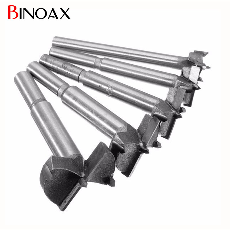 цена на Binoax Hand Tools New YG8 Forstner Auger Drill Bit Woodworking Hole Saw Wooden Wood Cutter Dia 15 20 25 30 35mm