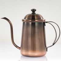 Classic Copper Color Coffee Pot 304 Stainless Steel Long Mouth Coffee Pot Creative Coffee Tools 650ml